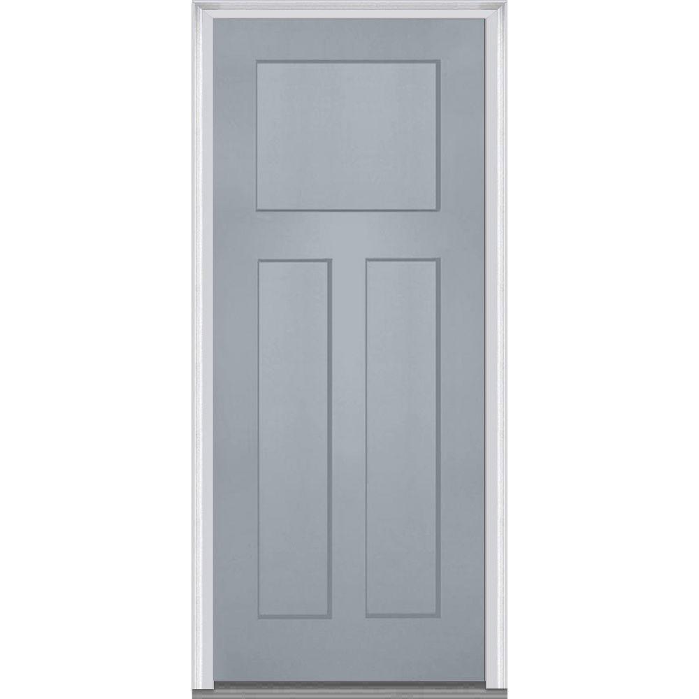 32 Inch Exterior Door. 32 in  x 80 Right Hand Inswing Craftsman 3 Panel Shaker Gray Front Doors Exterior The Home Depot