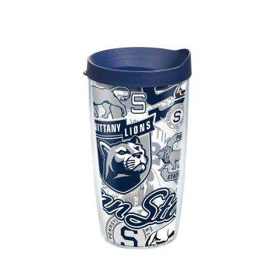 Penn State All Over 16 oz. Double Walled Insulated Tumbler with Travel Lid