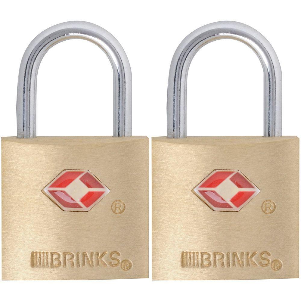 7/8 in. (22 mm) Brass Keyed Lock (2-Pack)