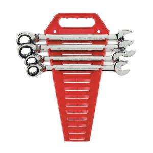 Click here to buy GearWrench Reversible Ratcheting Combination Wrench Set (4-Piece) by GearWrench.