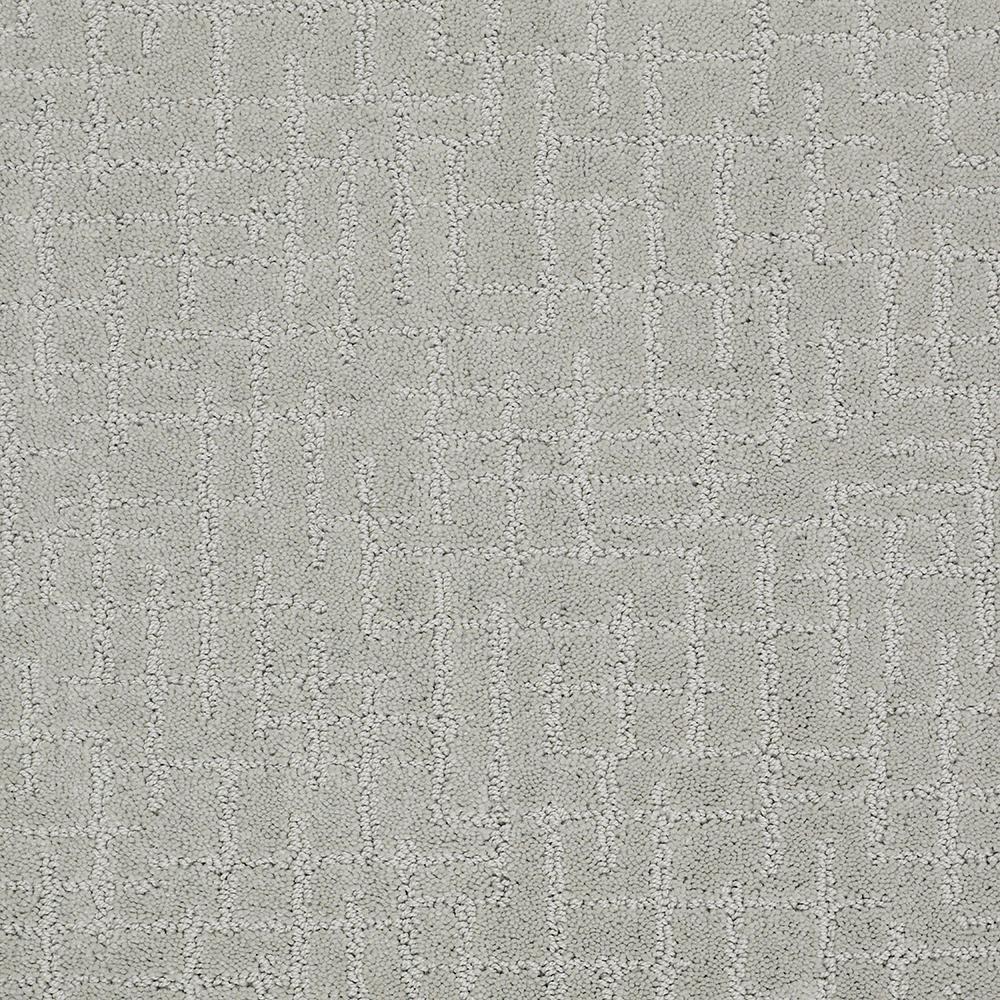 Latice - Color Grey Cloud Pattern 12 ft. Carpet