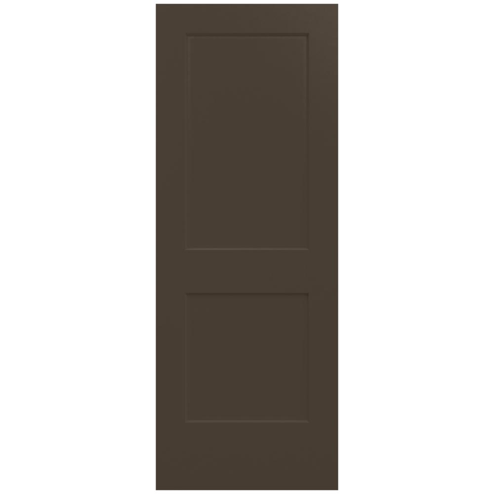 32 in. x 80 in. Monroe Dark Chocolate Painted Smooth Solid