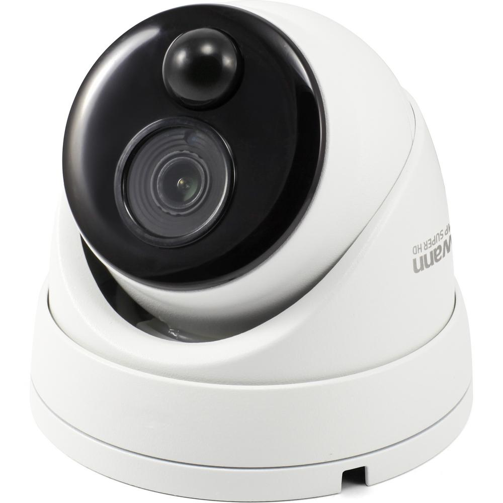 Swann 5MP Wired Dome Security Camera with PIR Motion Sensor and 100 ft  of  Night Vision