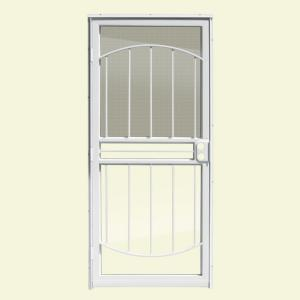 Arbor White Recessed Mount All Season Security Door With · Unique Home  Designs ...
