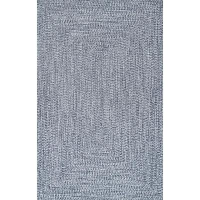 Lefebvre Casual Braided Light Blue 8 ft. x 11 ft. Indoor/Outdoor Area Rug