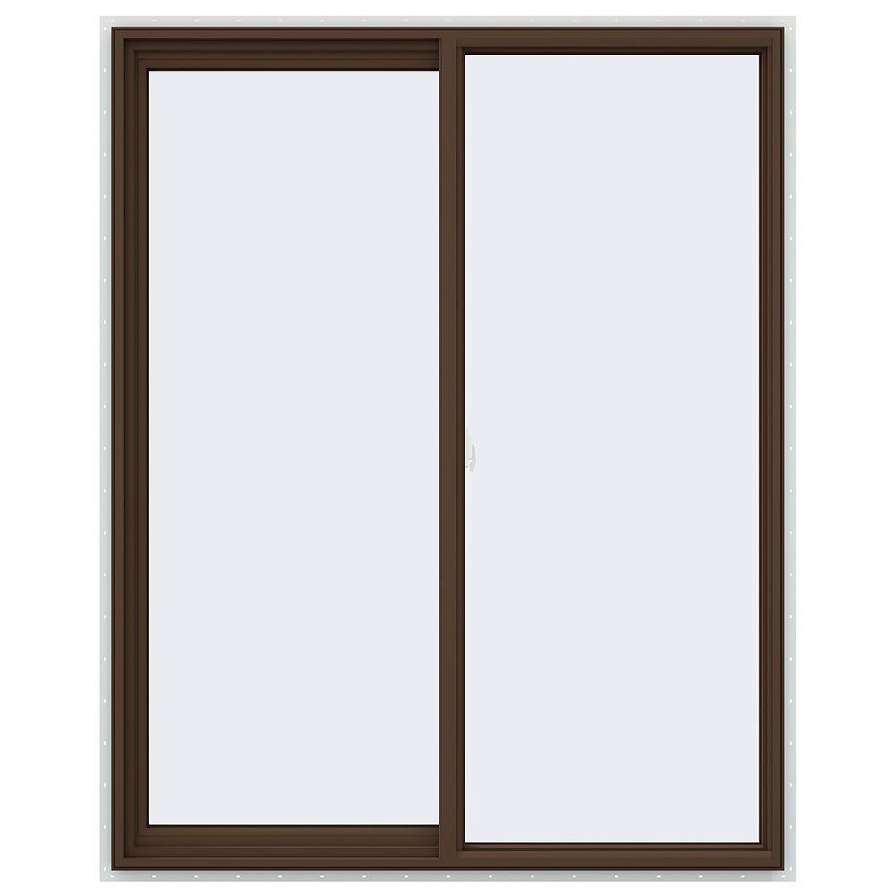 47.5 in. x 59.5 in. V-2500 Series Left-Hand Sliding Vinyl Window