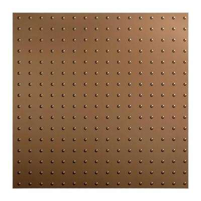 Minidome - 2 ft. x 2 ft. Lay-in Ceiling Tile in Argent Bronze