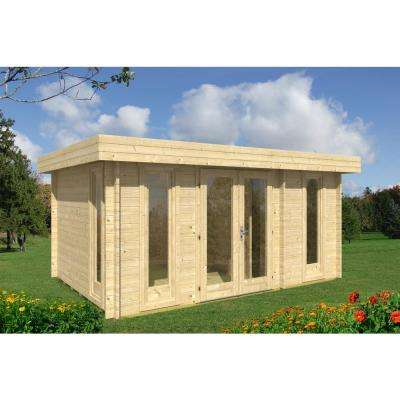 Oriental 5 15 ft. x 10 ft. Log Cabin Style Pool Garden House Hobby Extra Storage Space Building Kit