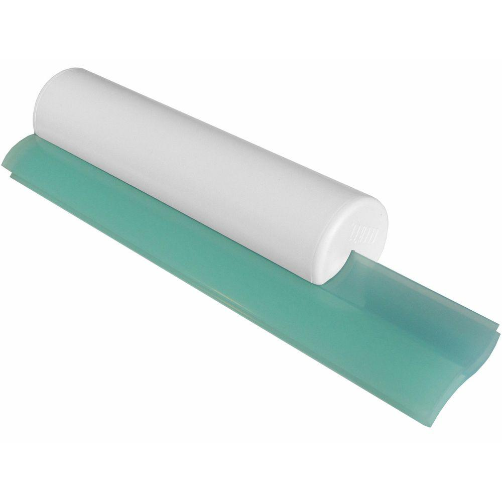 Ordinaire Cleru0027et Classic Dual Bladed Shower Squeegee In White With Aqua Trim