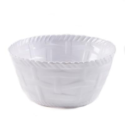 Woven White Cereal Bowl (Set of 4)