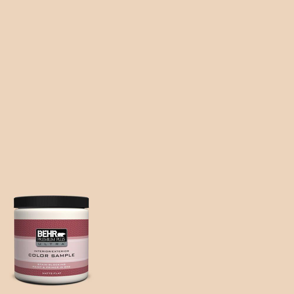 BEHR Premium Plus Ultra 8 oz. #ECC-52-1 Nevada Sand Interior/Exterior Paint Sample