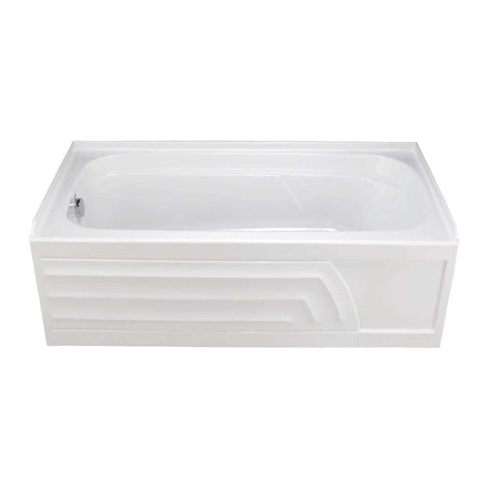 American Standard Colony 5 ft. x 30 in. Left Drain Soaking Bathtub with Integral Apron in White
