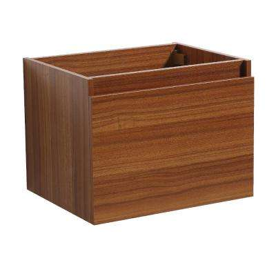 Nano 24 in. Bathroom Vanity Cabinet Only in Teak