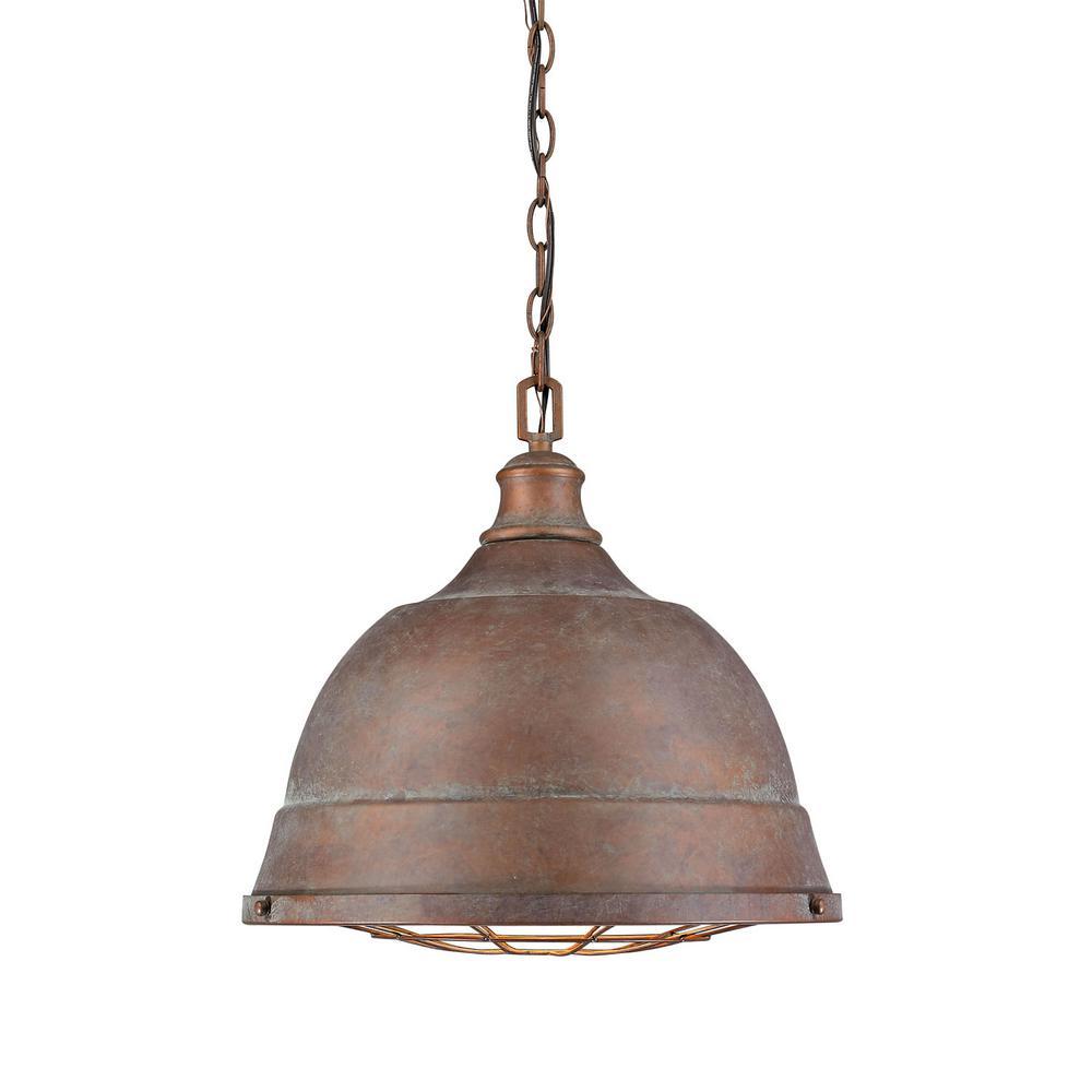 Golden Lighting Bartlett 2-Light Copper Patina Pendant