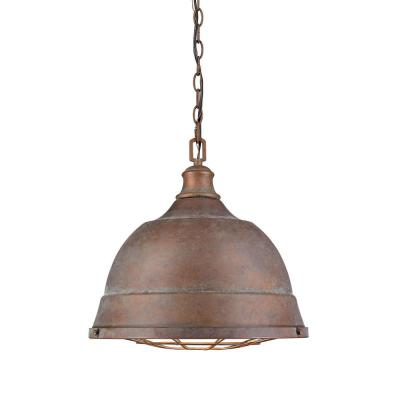 Bartlett 2-Light Copper Patina Pendant