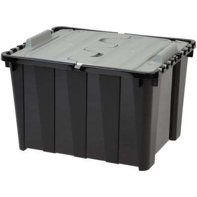 48 Qt. Wing Lid Storage Tote in Black