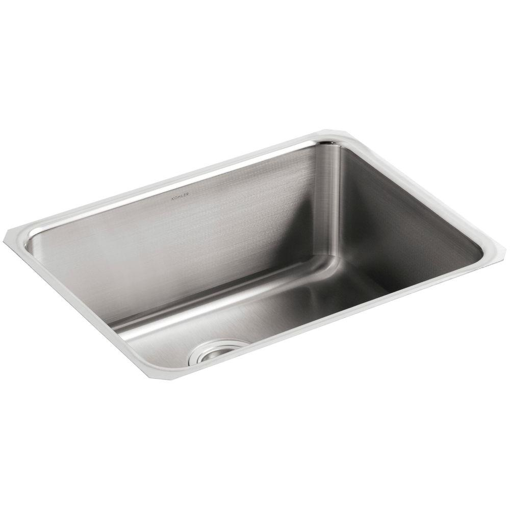 Undertone Undermount Stainless Steel 23 in. Single Bowl Kitchen Sink