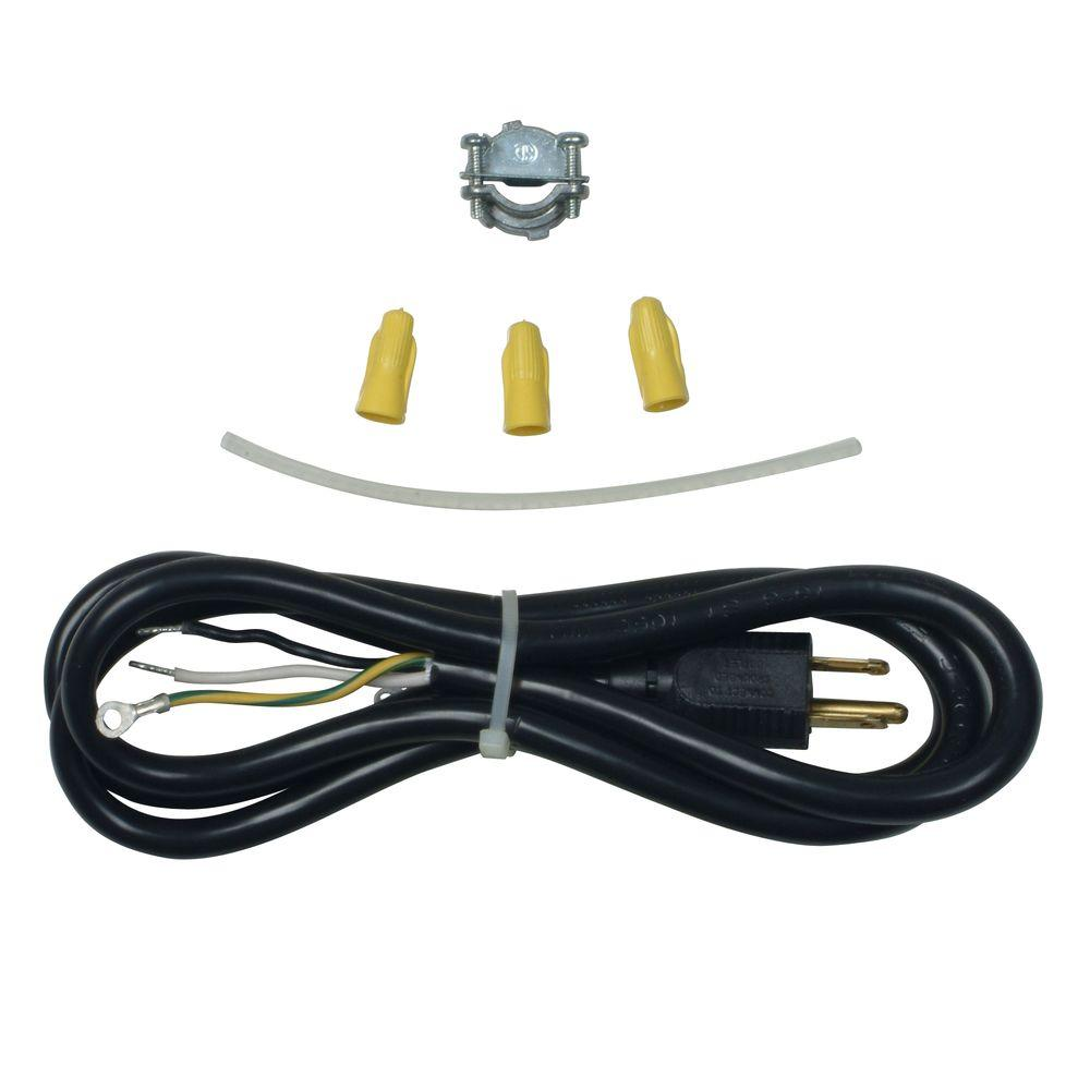 Whirlpool 3-Prong Dishwasher Power Cord Kit This Dishwasher Power Cord Kit contains all of the necessary parts for complete installation. Kit includes power cord, strain relief, wire nuts and instruction sheet. Fits most major brands.