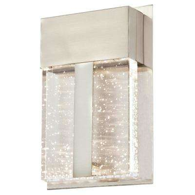 Cava II 1-Light Brushed Nickel Outdoor Integrated LED Wall Mount Lantern
