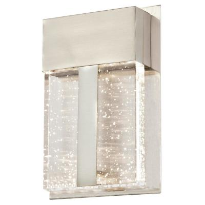 Cava II 1-Light Brushed Nickel Outdoor Integrated LED Wall Lantern Sconce