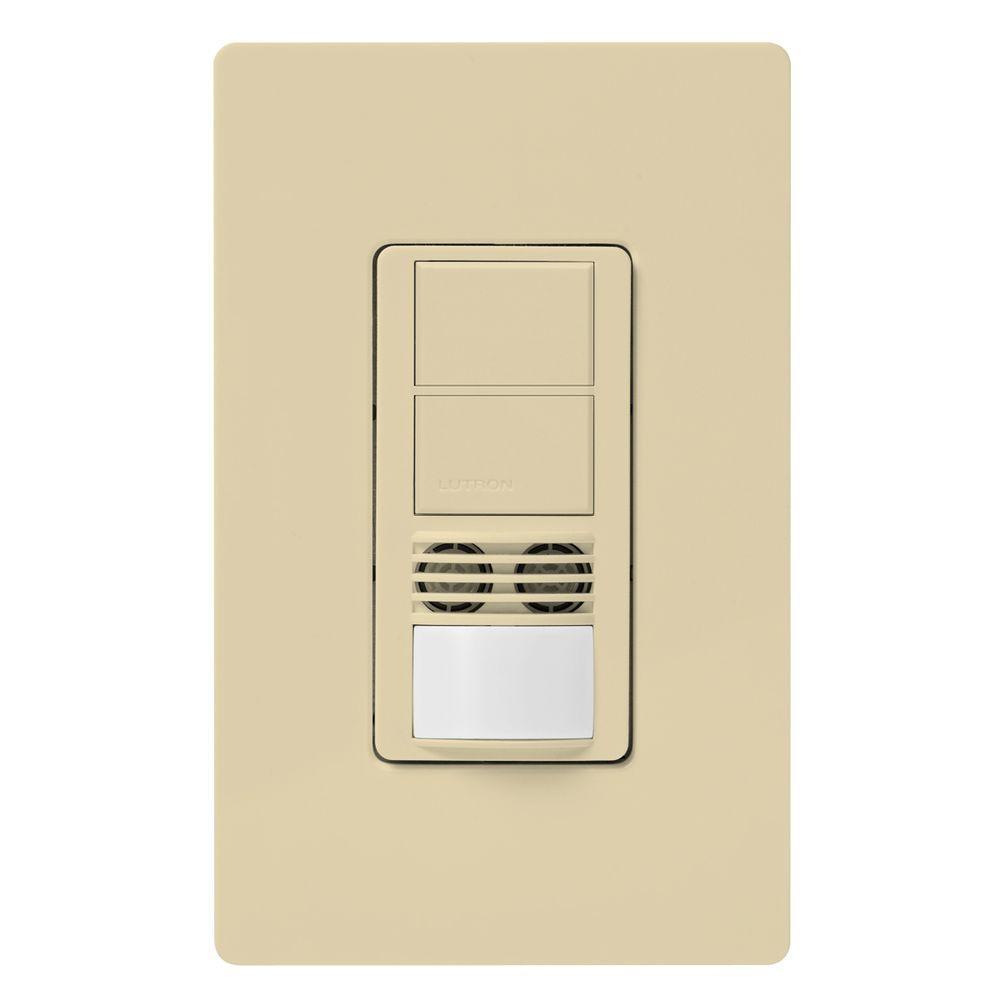 Maestro Dual-Circuit Dual-Tech Motion Sensor switch, 6A, Single-Pole or 3-Way, Ivory