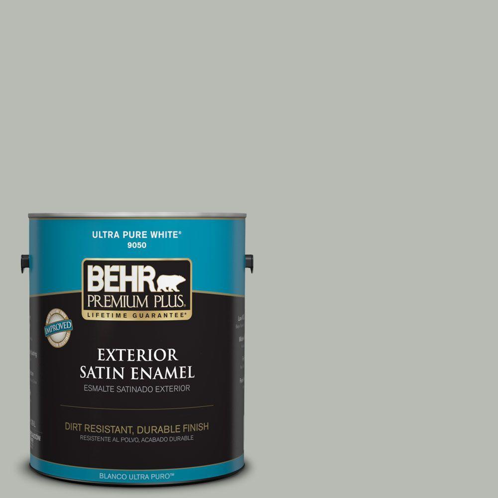 Home Decorators Collection 1-gal. #HDC-AC-21 Keystone Gray Satin Enamel Exterior