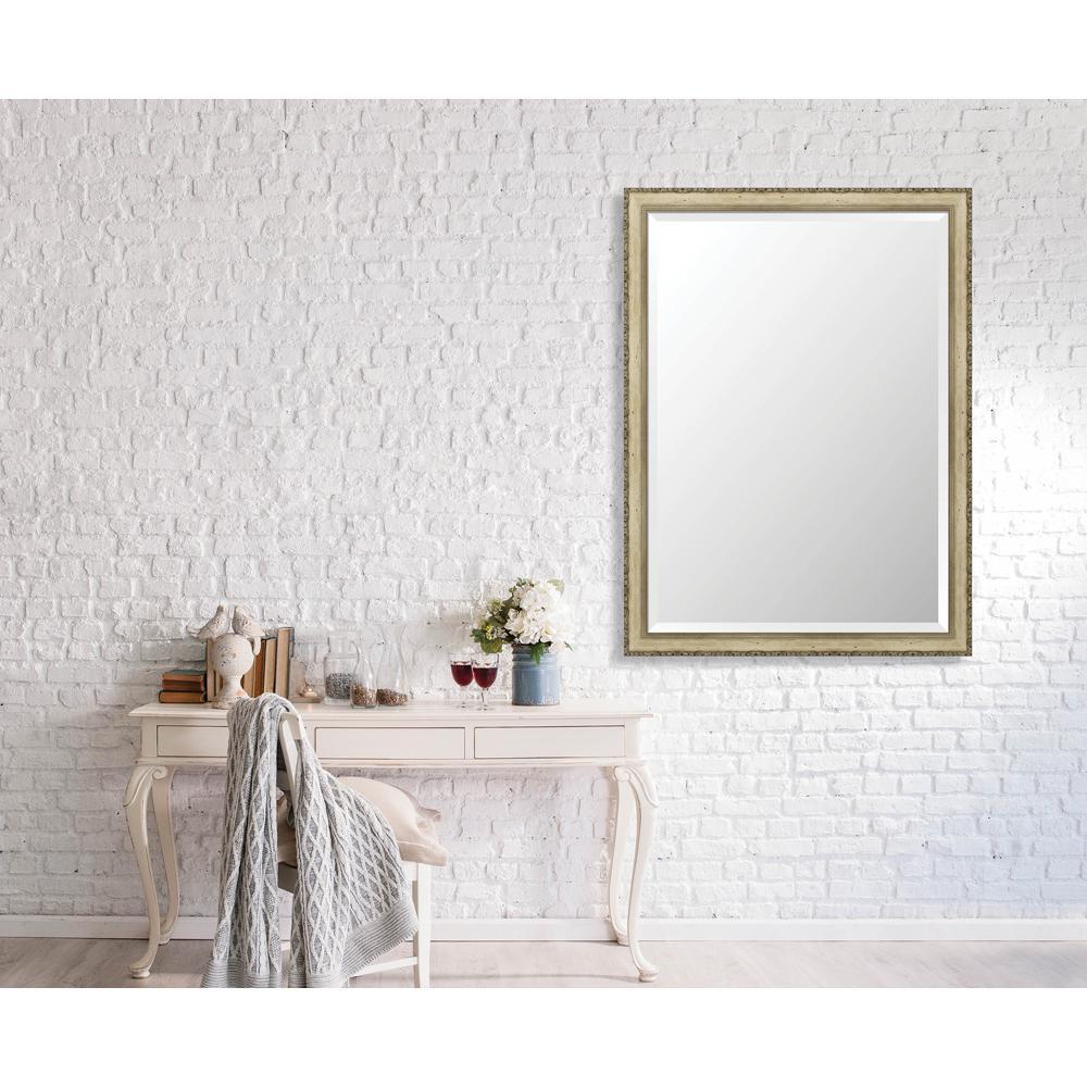 Winthrop 34.375 in. x 46.375 in. Vintage Medium Framed Bevel Mirror