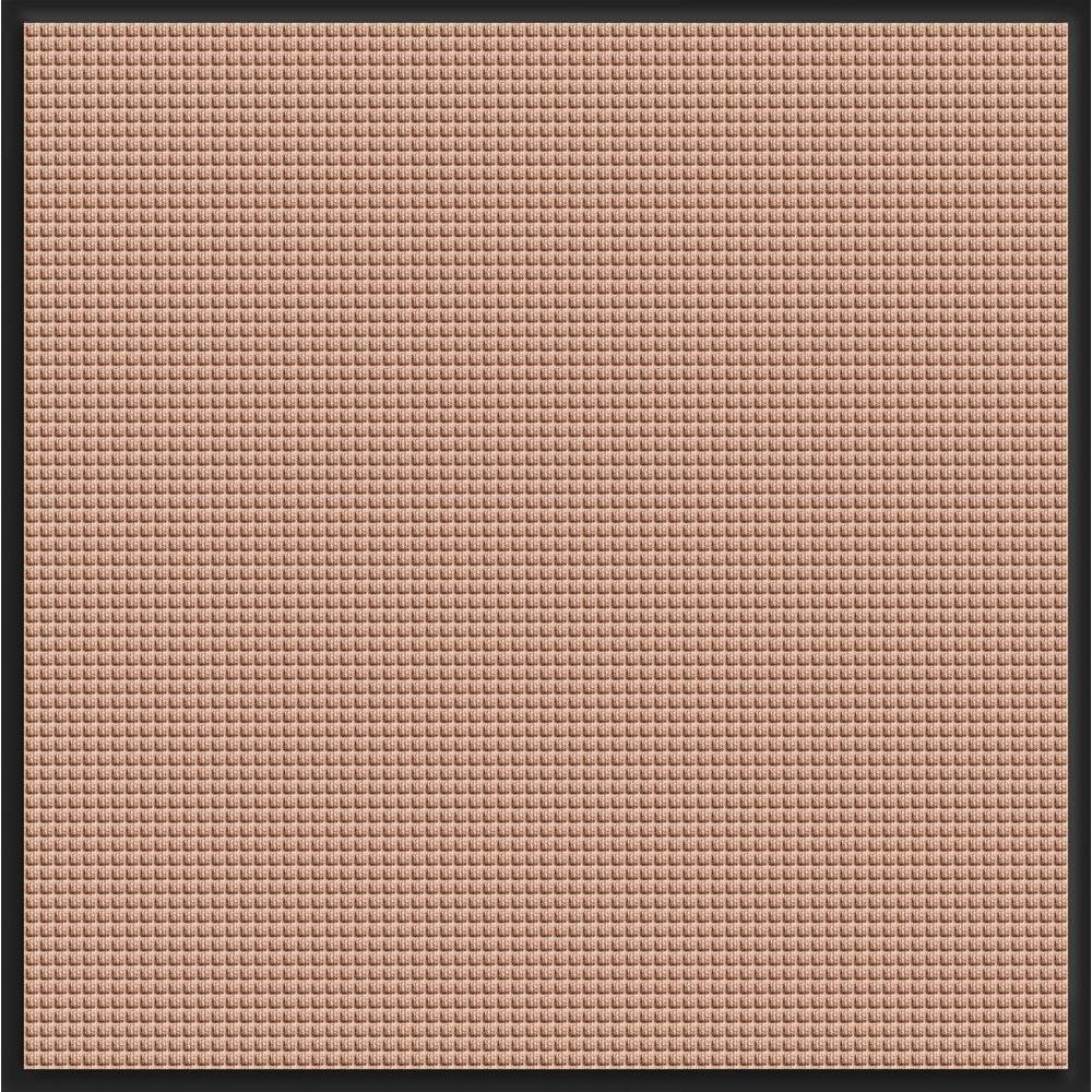 Bungalow Flooring WaterGuard Medium Brown Snow Mobile 44.25 in. x 49 in. Landing Pad