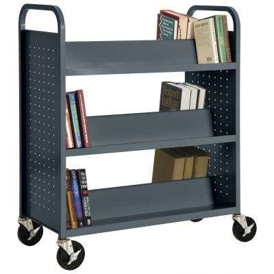 Charcoal Mobile Steel Bookcase