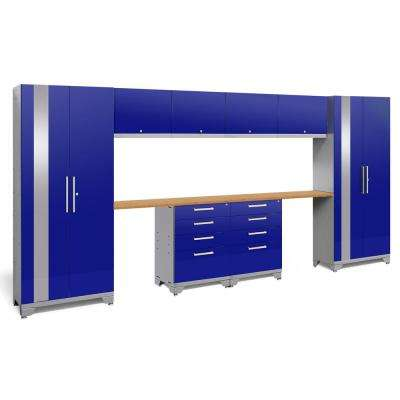 Performance 2.0 72 in. H x 156 in. W x 18 in. D Garage Cabinet Set in Blue (10-Piece)