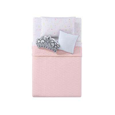 Jersey Quilted Pink Twin XL Blanket