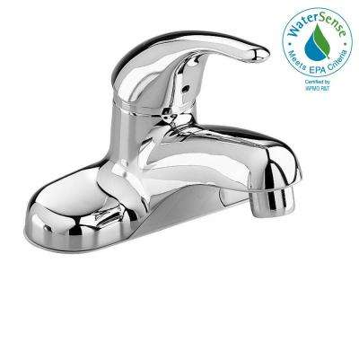 Centerset Single Handle Low-Arc Bathroom Faucet in Polished Chrome