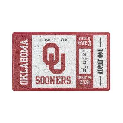 University of Oklahoma 30 in. x 18 in. Vinyl Indoor/Outdoor Turf Floor Mat