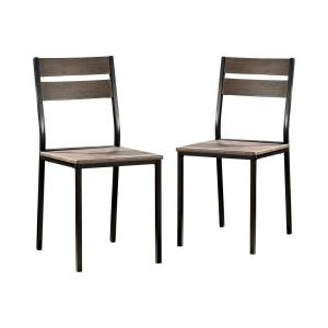 Deals on Furniture of America Spivey Antique Metal and Wood Side Chairs