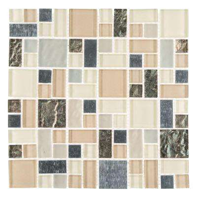 Royal Glaze 11.875 x 11.875 Glass/Metal Mosaic Wall Tile