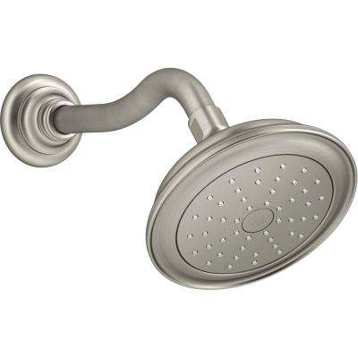 Artifacts 1-Spray 6 in. Showerhead with Katalyst Air Induction Technology in Vibrant Brushed Nickel