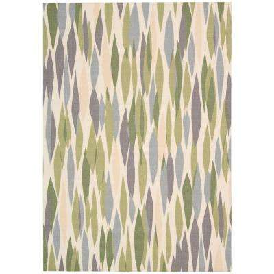 Bits and Pieces Violet 8 ft. x 11 ft. Area Rug