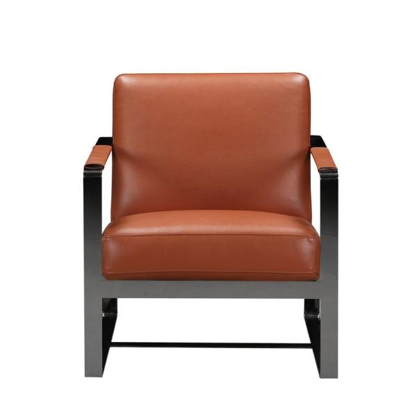 Charlie Camel Leather Accent Chair