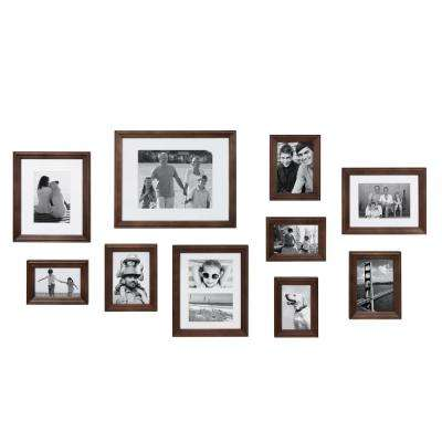 Bordeaux Brown Picture Frame (Set of 10)