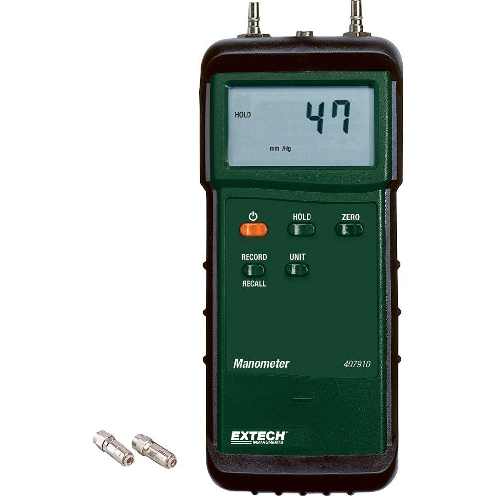 Extech 29psi Heavy Duty Differential Pressure Manometer