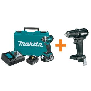 Makita 18-Volt Lithium-Ion Brushless 1/4 inch Impact Driver Kit with Bonus Sub-Compact BL... by Makita