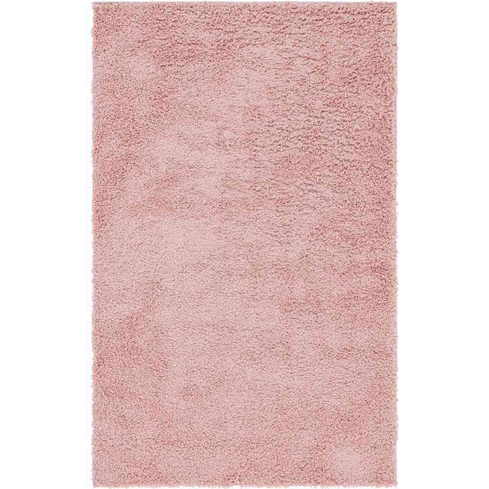 Unique Loom Davos Shag Dusty Rose Pink 5 ft. x 8 ft. Area Rug - Sale: $79.02 USD