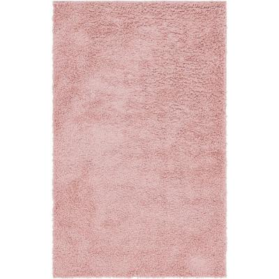 Davos Shag Dusty Rose Pink 5 ft. x 8 ft. Area Rug