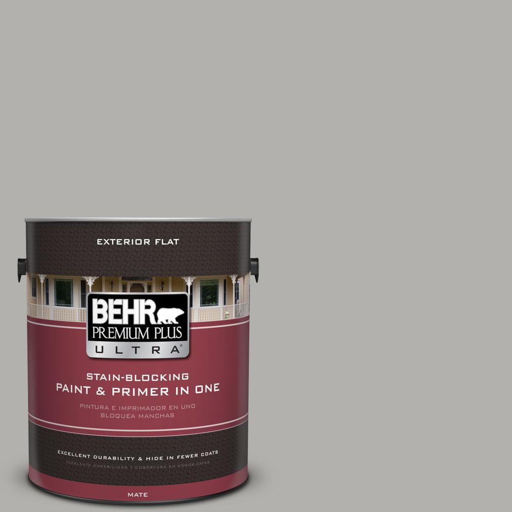 1-gal. #BXC-25 Colonnade Gray Flat Exterior Paint