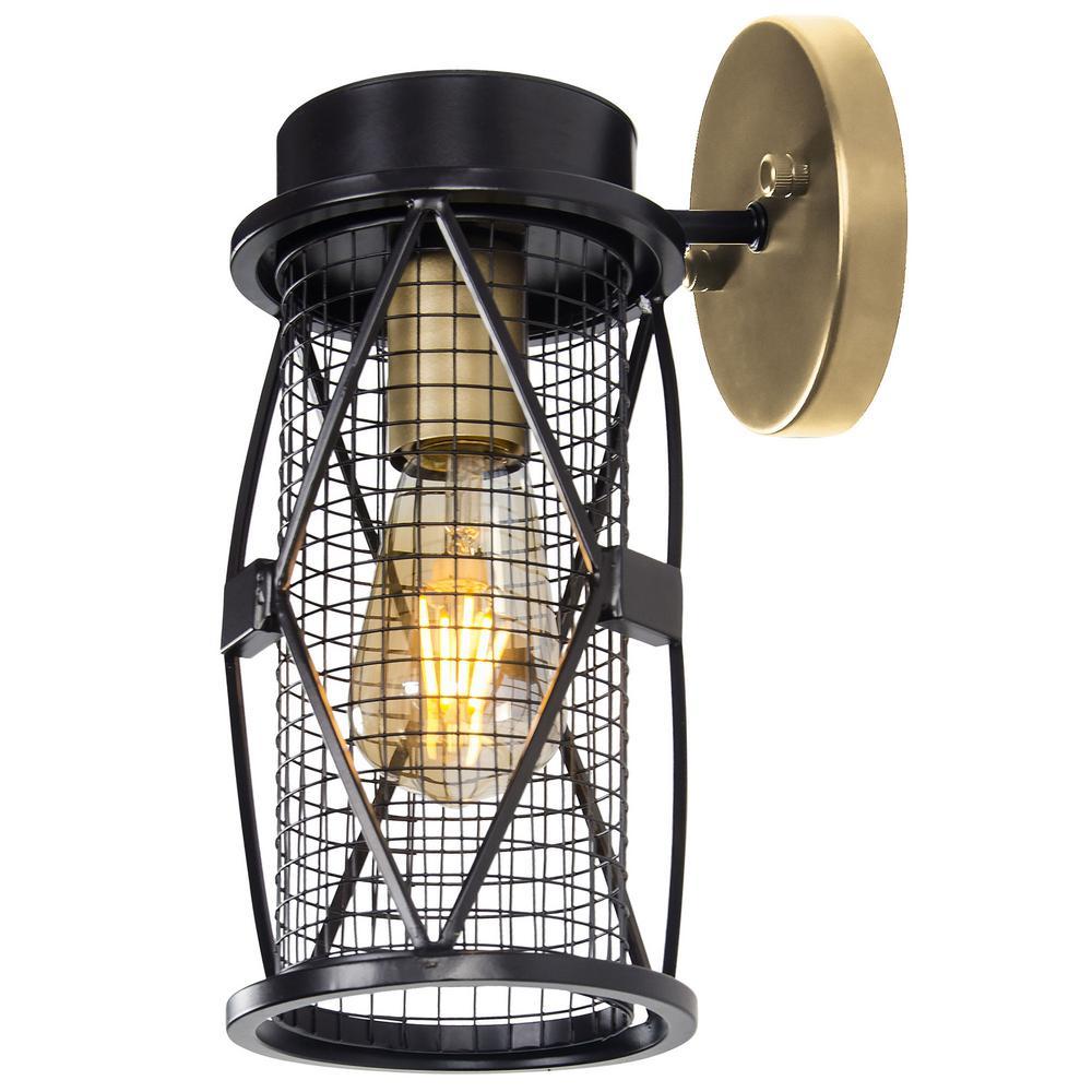 Rogue Decor Harlequin 1-Light Warm Bronze/Gold 5.13 in. W Bath Light