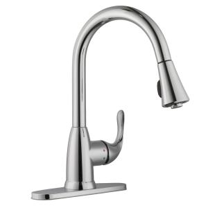 Glacier Bay Market Single-Handle Pull-Down Sprayer Kitchen Faucet in Polished Chrome by Glacier Bay