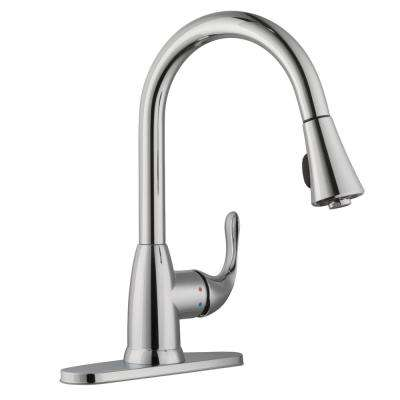 Market Single-Handle Pull-Down Sprayer Kitchen Faucet in Polished Chrome