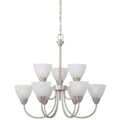 Tia 9-Light Matte Nickel Chandelier