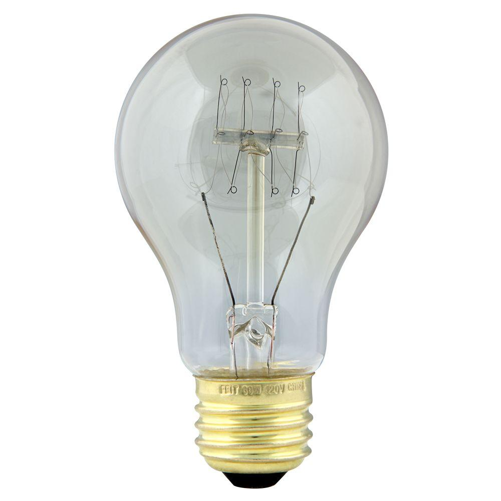 60-Watt Soft White AT19 Incandescent Original Vintage Style Light Bulb (Case