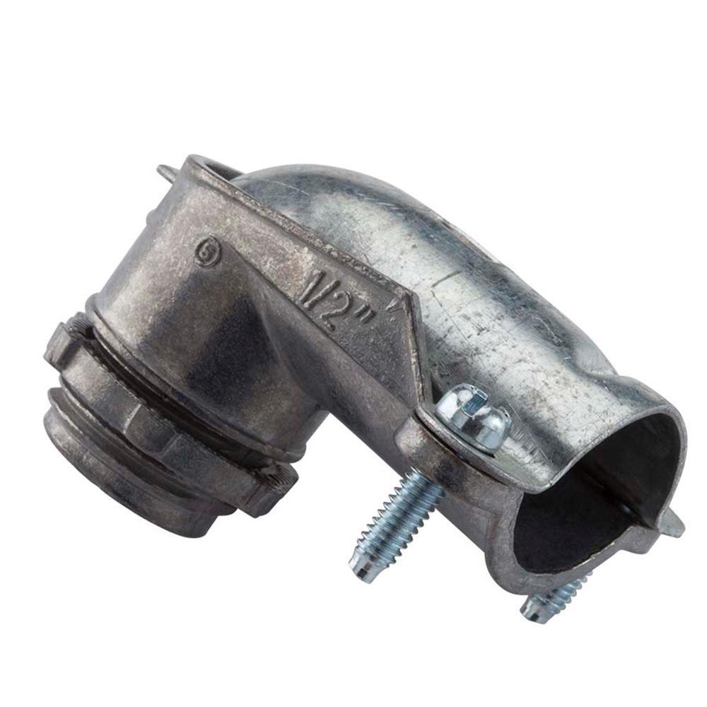 1-1/2 in. Flexible Metal Conduit (FMC) 90° Metal Conduit Connector